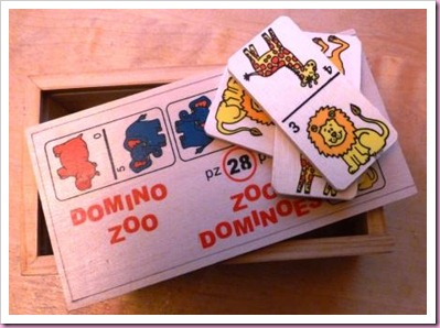 wooden domino tags
