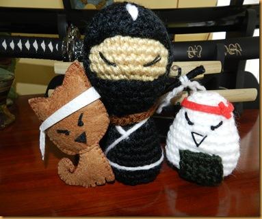 kokeshi ninja amigurumi felties