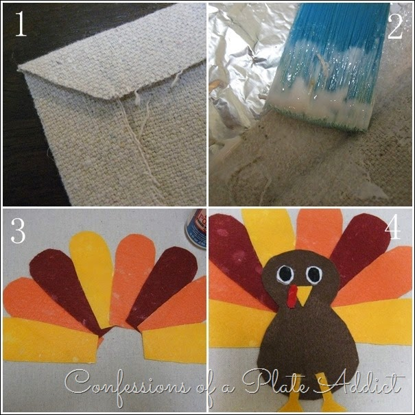 CONFESSIONS OF A PLATE ADDICT  No-Sew Thanksgiving Placemat Tutorial
