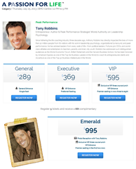Tony Robbins live (click to enlarge)
