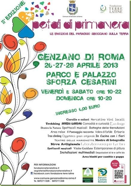 Petali di primavera genzano di roma 26 28 aprile 2013