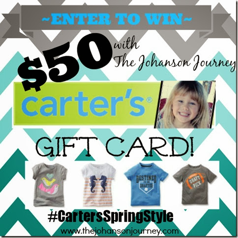 #CartersSpringStyle $50 Gift Card with The Johanson Journey