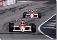 Senna e Prost con la McLaren-Honda nel 1989