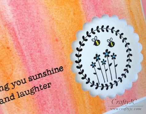 CraftyJC Sunshine Bee Card Close