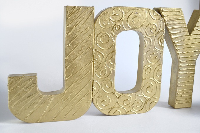 DIY Textured Word Decor