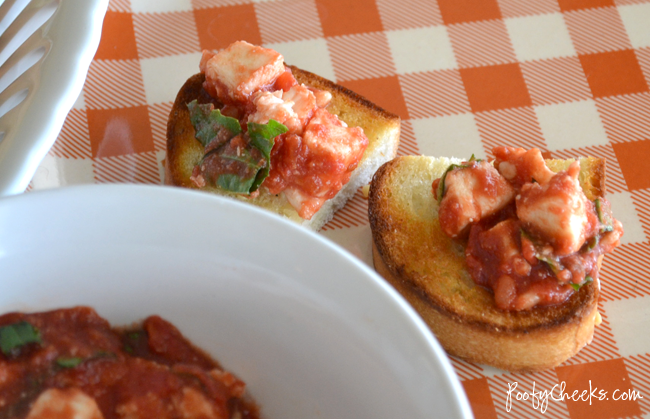 Easy Touchdown Bruschetta Dip with Classico canned tomatoes