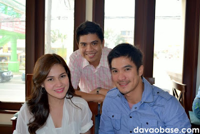 Hubby with Bea Alonzo and Diether Ocampo at The Swiss Deli Restaurant