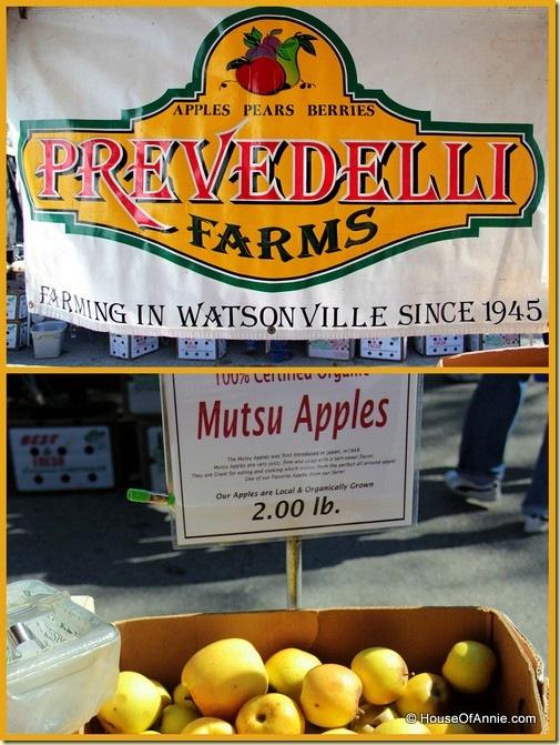 Prevedelli Farms apple stand at Saratoga Farmer's Market