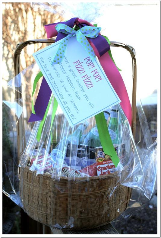 Popcorn theme gift basket