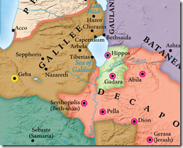 Bethsaida was likely on the northwestern end of the Sea of Galilee.