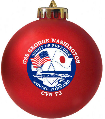 USS George Washington Ornament with Logo custom made at www.fundraisingornaments.com
