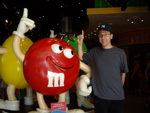 Michael Suddard and Mr. M&M at