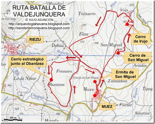 Mapa ruta batalla de Valdejunquera