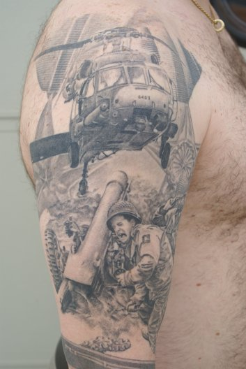 Larry 39 s war arm 1 for Vietnam tattoo ideas