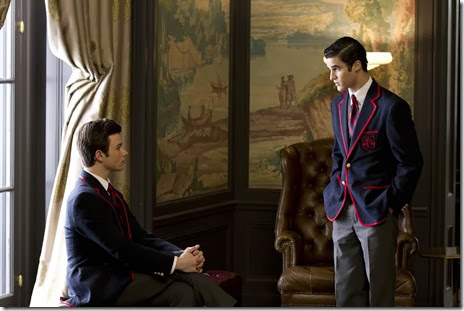 After Kurt loses the solo, Blaine tells him that if he wants to fit in he needs to stop trying so hard.