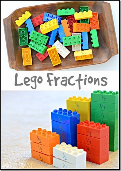 Teaching Fractions with Lego - this is a brilliant idea for helping visual learners really understand this math concept. Kids response so well to fun, tactile math teaching aids!