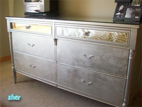 Diy metallic furniture Decoupage Monica Wants It Metallic Furniture diy Tutorial Monica Wants It