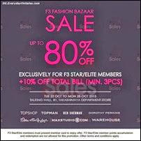 F3 Fashion Bazaar Sale 2013 Singapore Deals Offer Shopping EverydayOnSales