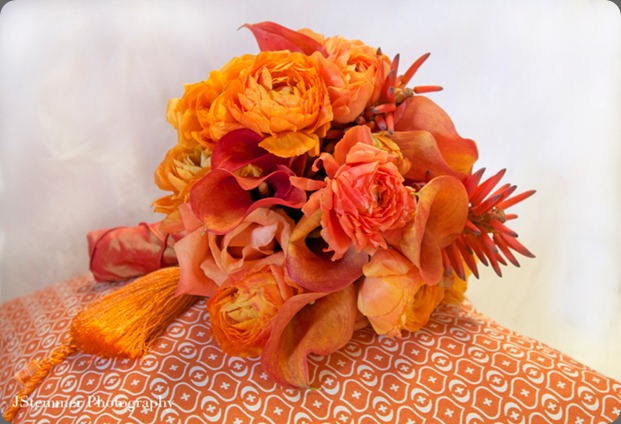 wedding-bouquet-orange-tassle-aileen-tran aileen tran