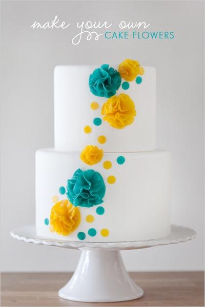 bolo de flores diy