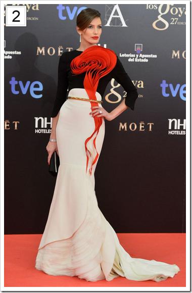 Mejor vestidas Goya 09 Nieves Alvarez