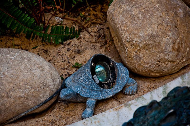 Отель Caribean World Resort Soma Bay. Хургада. Египет. Фонарики - черепашки, подсвечивают территорию отеля. Везде используется местное освещение, что создают вечером очень уютную атмосферу.