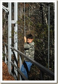 e climbing suspension bridge
