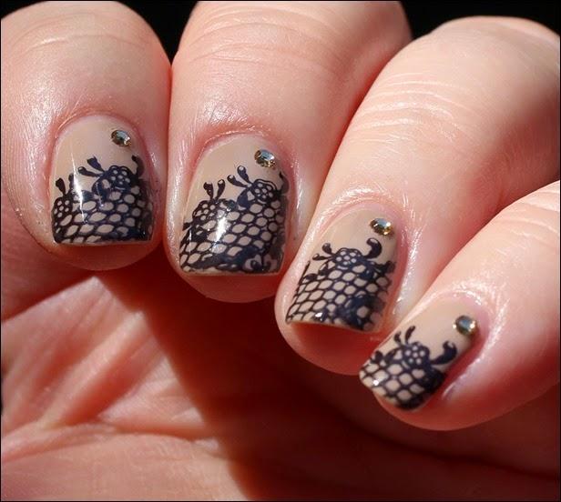 Nageldesign Nail Art Wedding Lace 06