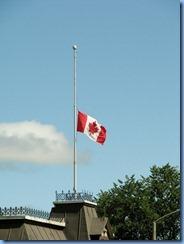 5052 Michigan - Sault Sainte Marie, MI -  St Marys River - Soo Locks Boat Tours - Canadian flag at half mast due to NDP Leader Jack Layton's death