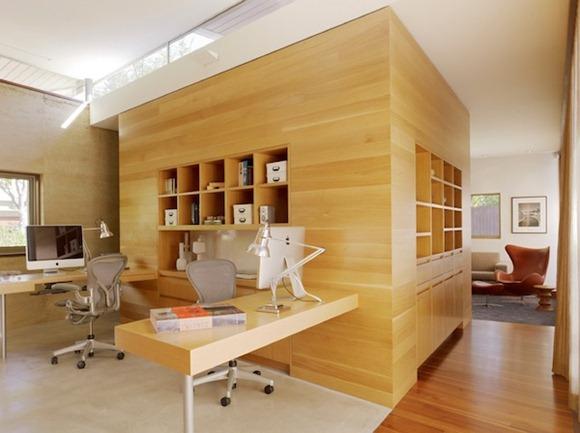 Trae a la luz natural para su oficina en casa oscura
