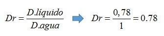 Ejemplo de densidad relativa