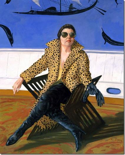Julio Larraz -Hortense_Le_Corsair_in_the_Maritime_Room