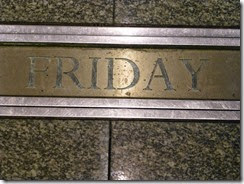 Friday plaque 1