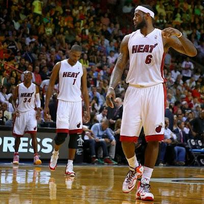 lebron james nba 140314 mia vs den 07 LeBron Goes Back to LeBron 11 with New Miami Heat Home PE
