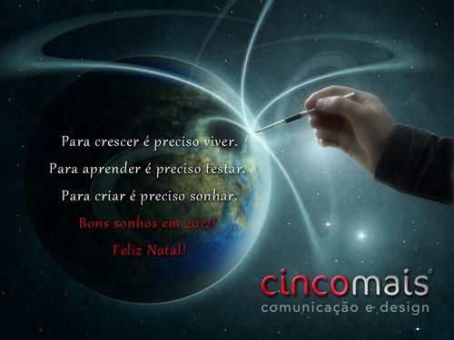 Cartão de natal_Cinco Mais_2011