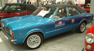 "Ford Taunus, model 1974, silnik widlasta ""6-tka"" o pojemnosci 2l. i mocy 120KM"