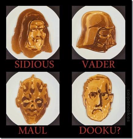 Star Wars - Sith pancakes