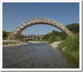 PAPER BRIDGE - Remoulin, France, 2007-1