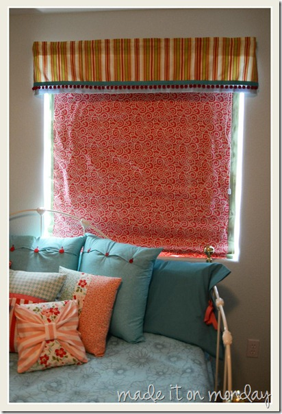 DIY Valance and Roman Shade 4