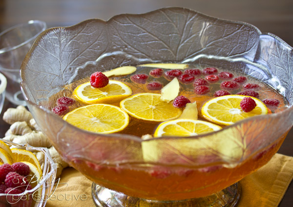 Champagne Punch with Raspberry and Orange Liqueur Recipe | Yummly