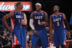 lebron james nba 130217 all star houston 23 game 2013 NBA All Star: LeBron Sets 3 pointer Mark, but West Wins