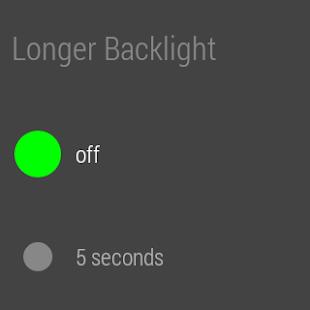 StayLit Wear: Longer Backlight