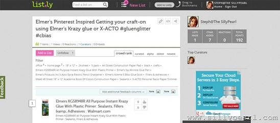 Listly Screen Shot Pre-shopping list