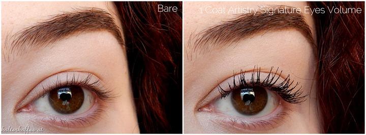 Artistry Signature Eyes Volume Mascara applied