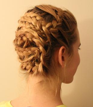 emma watson braided updo