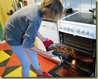 Dinner - Anna preparing