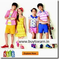 Jabong: Buy Kids Clothing & Footwear upto 70% + 32% off from Rs. 64