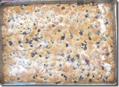 blueberry cake in pan