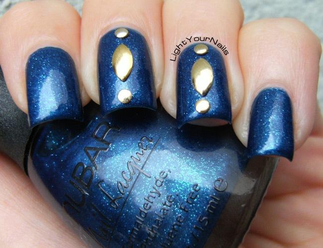 Nubar Sapphire + Bornprettystore golden metal studs