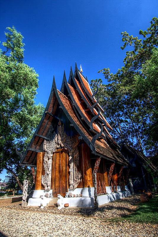 Black temple small house Chiang Rai Thailand